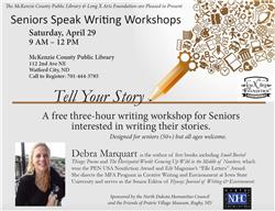 Senior Speak Writing Workshop