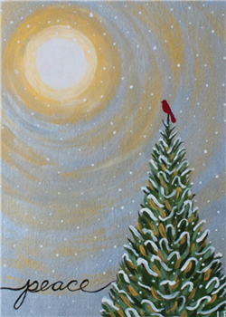 Holiday Wine and Canvas Party